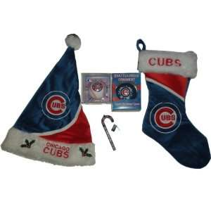 MLB Chicago Cubs Holiday Gift Set  Hat, Stocking, and
