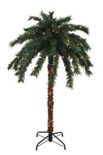 OUTDOOR SUMMER PATIO PALM TREE   CLEAR LIGHTS 762152802573