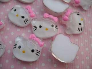 50 Mini Resin 1/2 Hello Kitty Flatback Button Bow