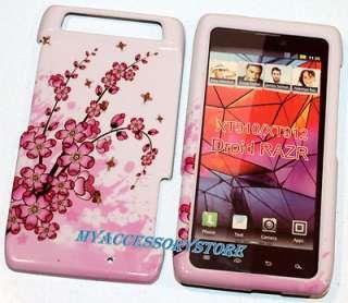 Verizon Motorola Droid Razr Cherry Blossom Flowers Hard Cell Phone