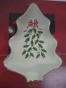Lenox HOLIDAY Christmas Tree Serving Dish NIB