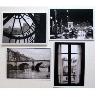 Paris Black and White Photography Note Cards Notecards French Greeting