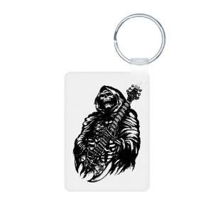Aluminum Photo Keychain Grim Reaper Heavy Metal Rock