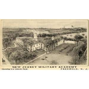 1907 Ad New Jersey Military Academy Athletic Field   Original Print Ad