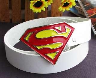 Superman logo fashion Metal Buckle leather Belt BSU2W
