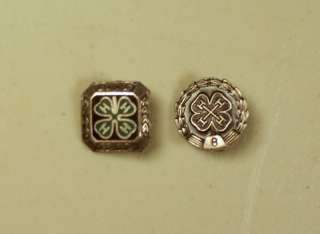 Vintage Sterling Silver 4 H Year Pins 4H