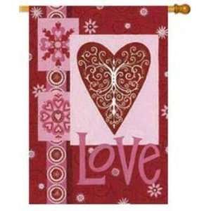 Valentine Flag Love Hearts