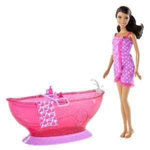 Barbie Bath Tub And Barbie African American Doll Playset