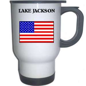 US Flag   Lake Jackson, Texas (TX) White Stainless Steel