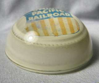 1950s Union Pacific Railroad Logo Glass Paperweight