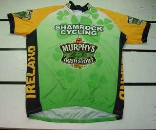 SHAMROCK CYCLING IRELAND MURPHYS IRISH BEER BICYCLE CYCLE BIKE JERSEY