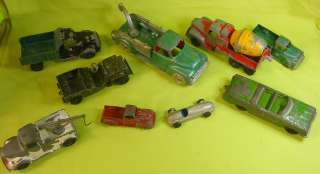 AMAZING 9 PC VINTAGE TOOTSIE TOY CAR, JEEP, TRUCK MIXED LOT
