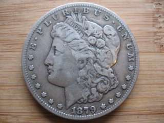 1879 CC, Morgan Silver Dollar, Very Nice Detail, Nice Original Coin