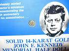 MINI 1974 JOHN F. KENNEDY 22KT GOLD HALF DOLLAR COIN