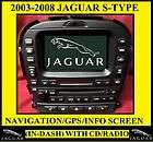 2003  2008 JAGUAR S TYPE OEM NAVIGATION GPS SCREEN (IN DASH) & CD
