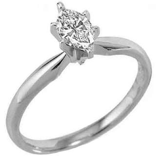 CARAT WOMENS SOLITAIRE MARQUISE CUT SHAPE DIAMOND PROMISE RING