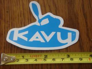KAVU Clothing STICKER Decal PADDLE Kayak