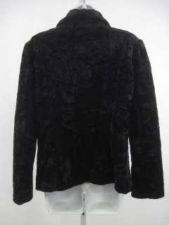 ALPINE STUDIO Black Faux Fur Coat Jacket Size M