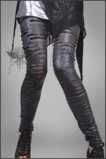 SL250 Black Punk Rock Style Tights Pants Leggings See Through