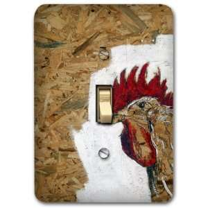 Rooster Farm Animal Country Metal Light Switch Plate Cover Home Decor