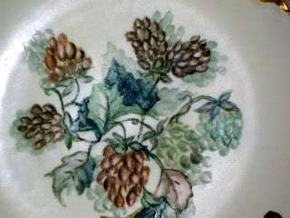 Antique Haviland Limoges France 6 Hand Painted Floral Plate Gold Trim