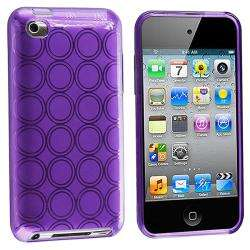Purple Circle TPU Rubber Case for Apple iPod Touch