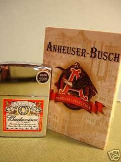 BUDWEISER ZIPPO LIGHTER New w/Box & Seal Anheuser Busch