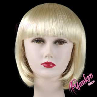 W014 Light Blonde Short Straight Cosplay Party Wig
