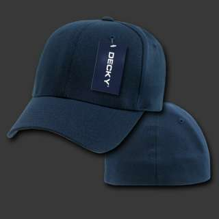NAVY BLUE FLEX FIT ULTRA FIT BASEBALL CAP HAT CAPS HATS