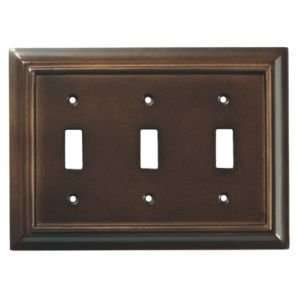 Wood Architectural Wood Architectural Series Triple Wall Plate 1263