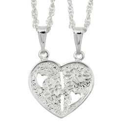 Sterling Silver Best Friend Charm Necklace