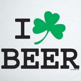 LOVE BEER IRISH T SHIRT RINGER pong ireland shamrock