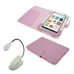 Deluxe  Nook COLOR Leather Case/ LED Light