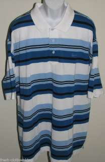 KARL KANI New Mens White & Blue Polo Shirt Size 3XL Big & Tall