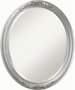 Sabine Silver Oval Beveled Mirror