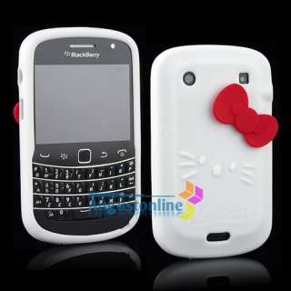 Silicone soft Case Cover For Blackberry Bold 9900 9930 White