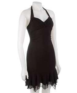 Sharagano Womens Black Halter Dress