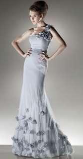 Charming gray Bridal Wedding Dress gown Size custom