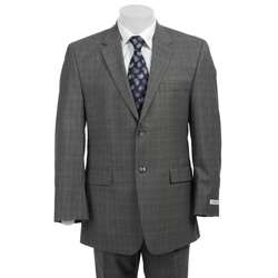Calvin Klein Mens Slim Fit 2 button Light Grey Wool Suit