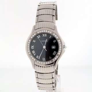 Cartier Cougar 18k White Gold Diamond Bezel watch.