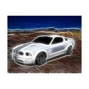 wisp white Ford Mustang pop art #ed to 25 comes COA