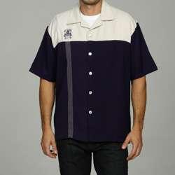 Davinci by Charlie Sheen Mens Two tone Woven Shirt