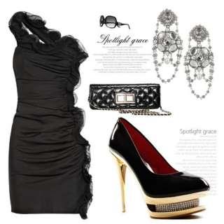 2012 Party Womens Sexy Crystal Platform Pump High Heels Stilettos