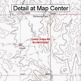 USGS Topographic Quadrangle Map   Golden Valley NW, North