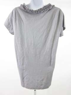 You are bidding on a J. CREW Gray Ruffled Short Sleeve Shirt Top in a