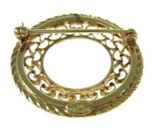 VINTAGE DANECRAFT 12Kt Gold Circular Small Brooch Pin