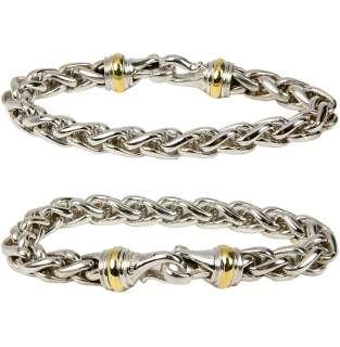Estate David Yurman Sterling Silver 14K YG Unisex Chain Link Bracelet
