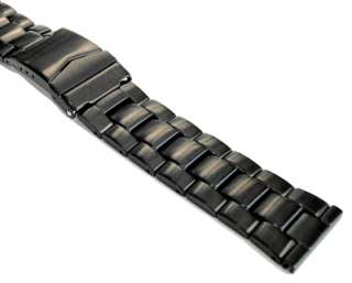 high quality solid stainless steel band with a black satin pvd coating