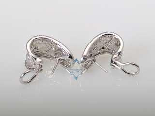 Carrera y Carrera 18K White Gold Diamond Leaf Earrings