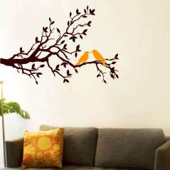 Wall Art Vinyl Decal Sticker Tree Branch and Bird I